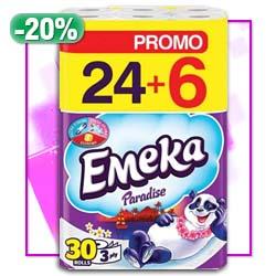 Тоалетна хартия Emeka paradise 24+6БР